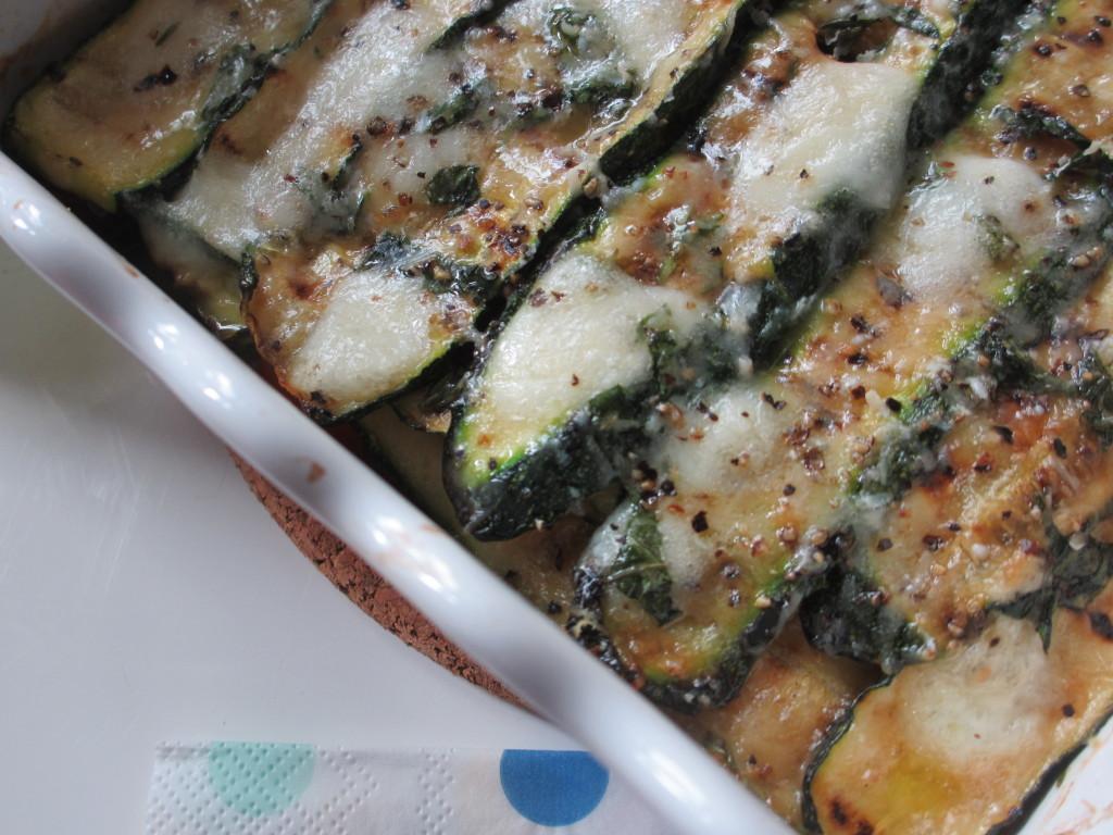 parmigiana di zucchine alla griglia