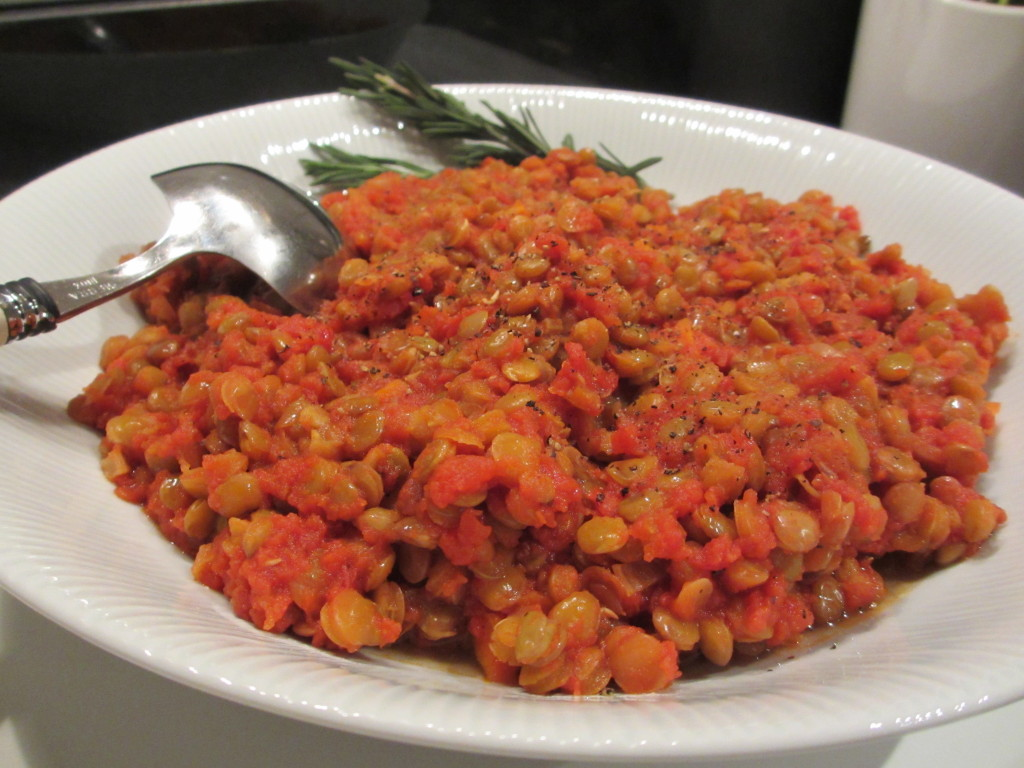 Stewed lentils and tomatoes | La Marcella – Italian Food ...